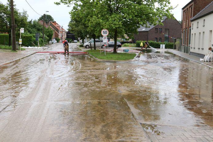 Wateroverlast in Haaltert afgelopen zondag
