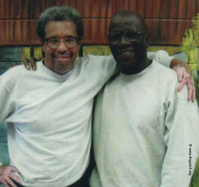Albert Woodfox en Herman Wallace in 2008. Beeld Trouw