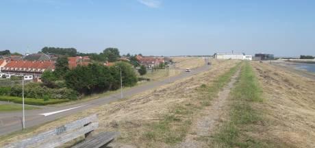 Bagger als dijkbekleding: waterschap doet proef bij Hansweert