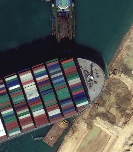 Vandaag nieuwe poging om blokkeerschip Suezkanaal vlot te trekken