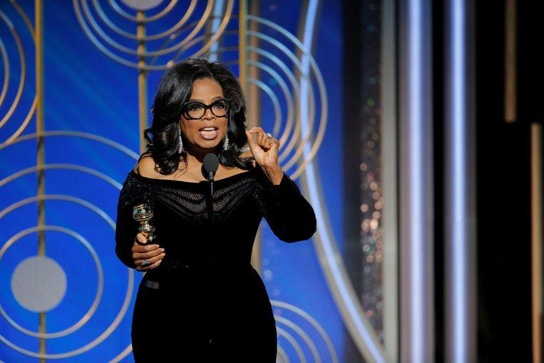 Oprah Winfrey gaf een indrukwekkende speech op de uitreiking van de Golden Globes.  Beeld REUTERS