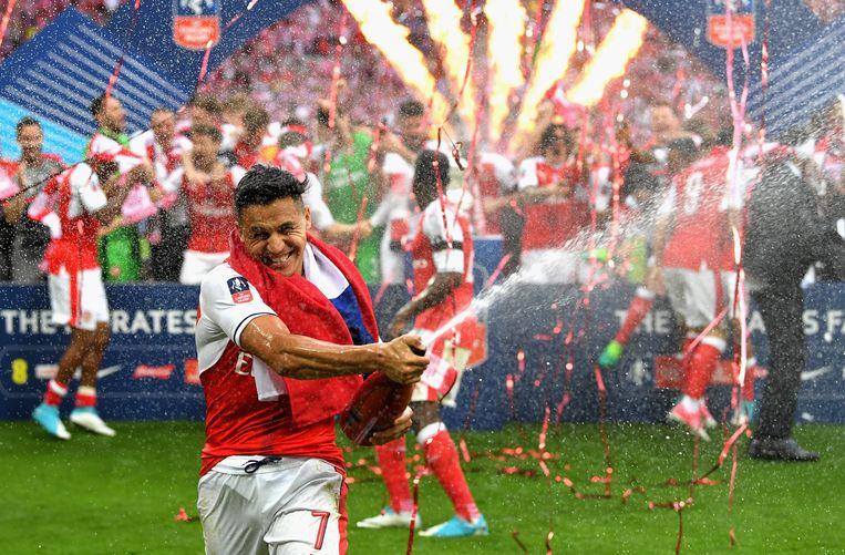 Alexis Sanchez won vorige maand met Arsenal de FA Cup nadat hij de opener scoorde in de finale tegen Chelsea. Beeld Getty Images