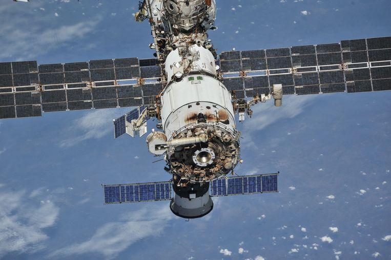 Het ISS op een foto uit 2018. Beeld Reuters