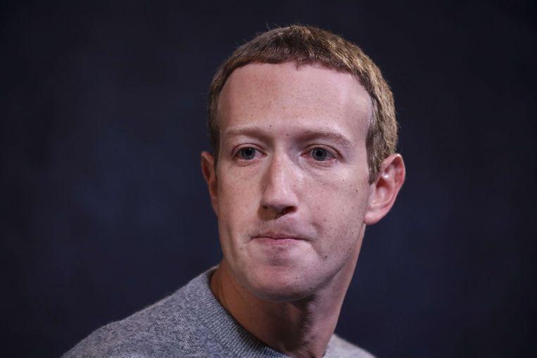 Mark Zuckerberg, Facebook-CEO. Zijn laissez-faire-aanpak wordt bejubeld door sommige Republikeinen, onder wie president Donald Trump, maar maakt Facebook behoorlijk onpopulair bij Democraten en burgerrechtenorganisaties.   Beeld AFP