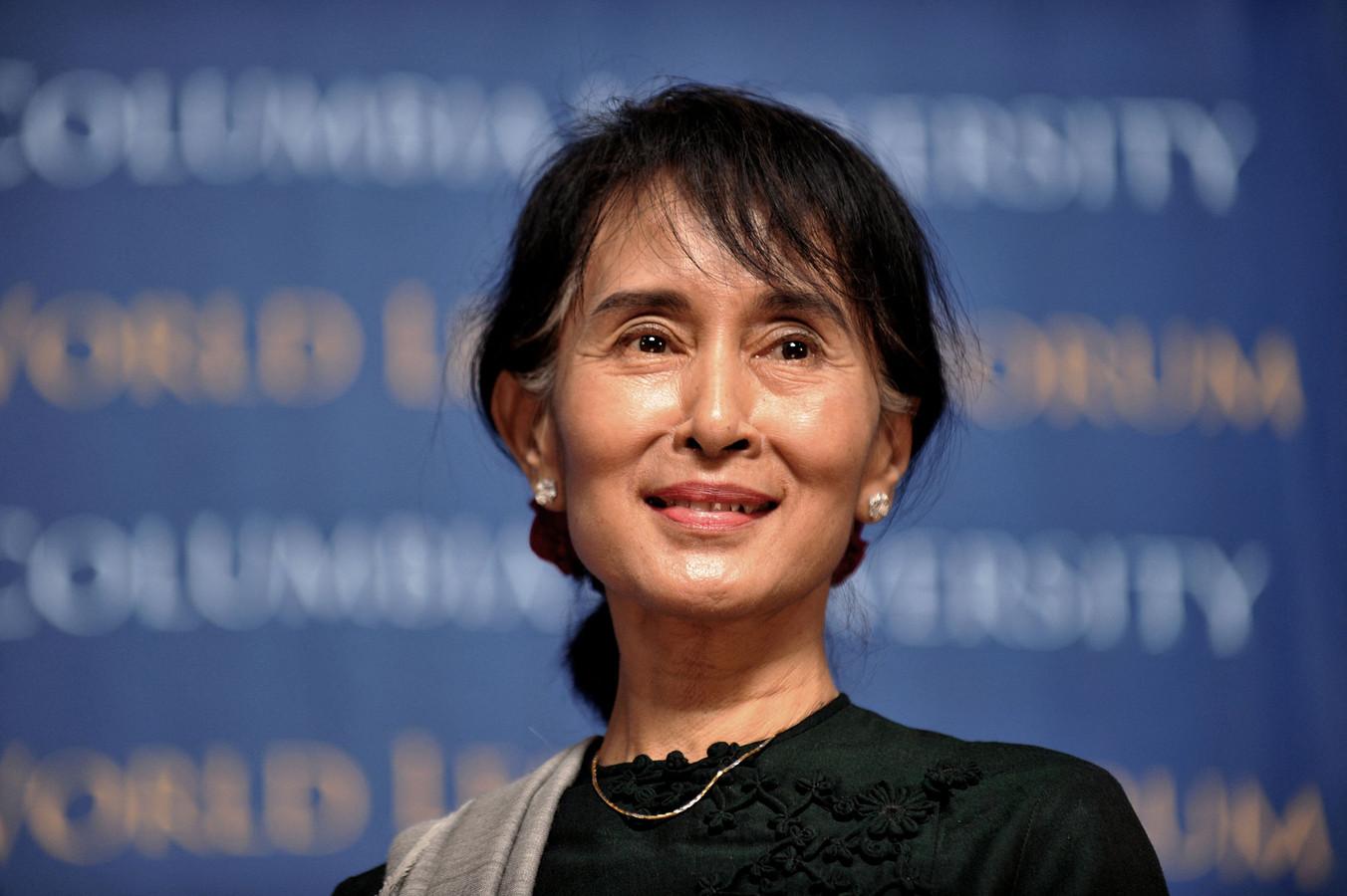 Aung San Suu Kyi op archiefbeeld.