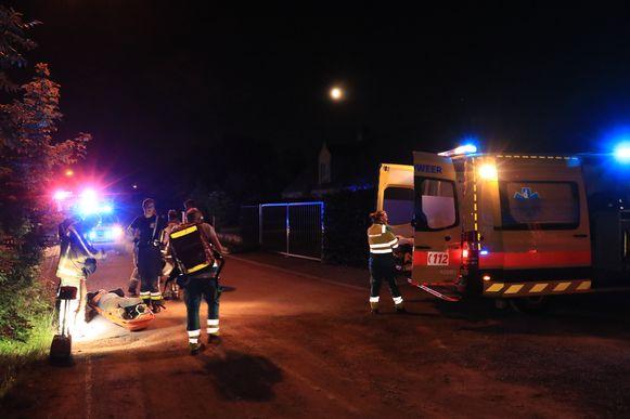 De chauffeur werd overgebracht naar een ziekenhuis in Antwerpen.