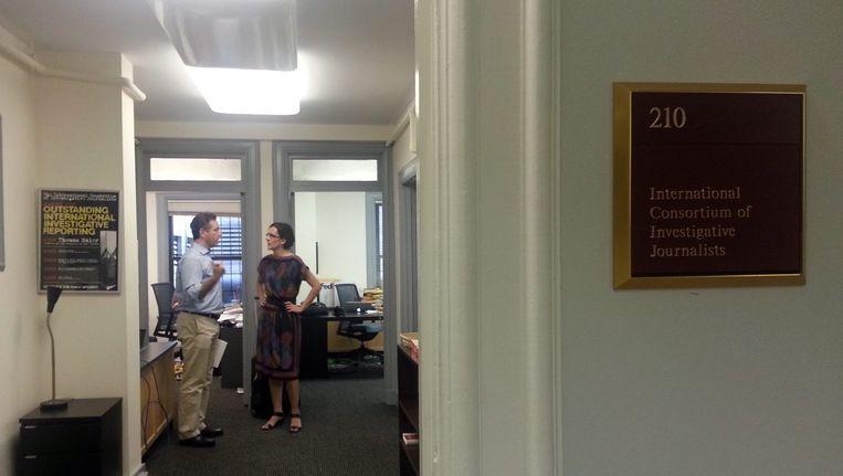 Het kantoor van ICIJ in Washington. Beeld epa
