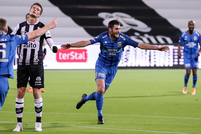 Matúš Bero besliste de uitwedstrijd van Vitesse bij Heracles.