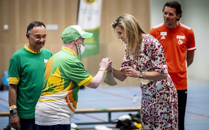Koningin Maxima bezoekt de Special Olympics Nationale Spelen. Het jaarlijkse tweedaags sportevenement voor mensen met een verstandelijke beperking kan met de nodige veiligheidsmaatregelen weer doorgaan.