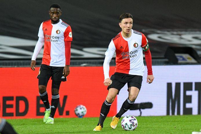 Steven Berghuis tijdens Feyenoord - PEC Zwolle.