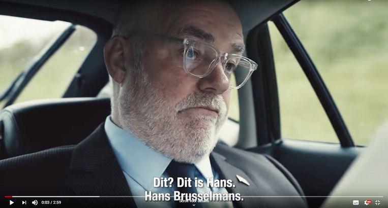 'Hans Brusselmans' in het spotje van de SP Beeld SP