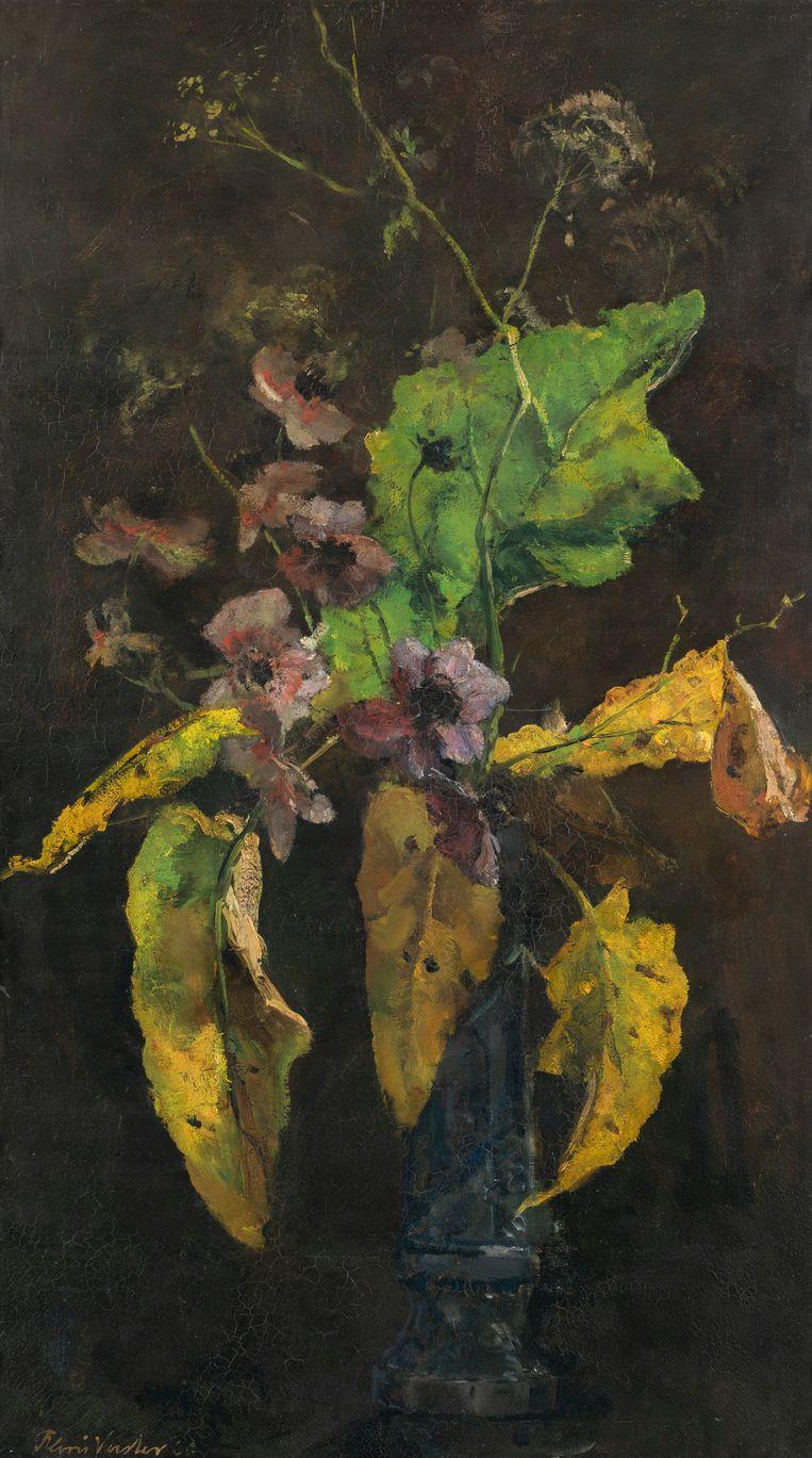 'Bloemstilleven, anemonen en bladeren', 1889, van Floris Verster. Beeld Groninger Museum