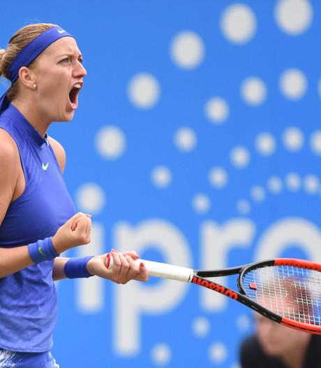 Kvitova heeft smaak te pakken, maar ziet zich niet als favoriet