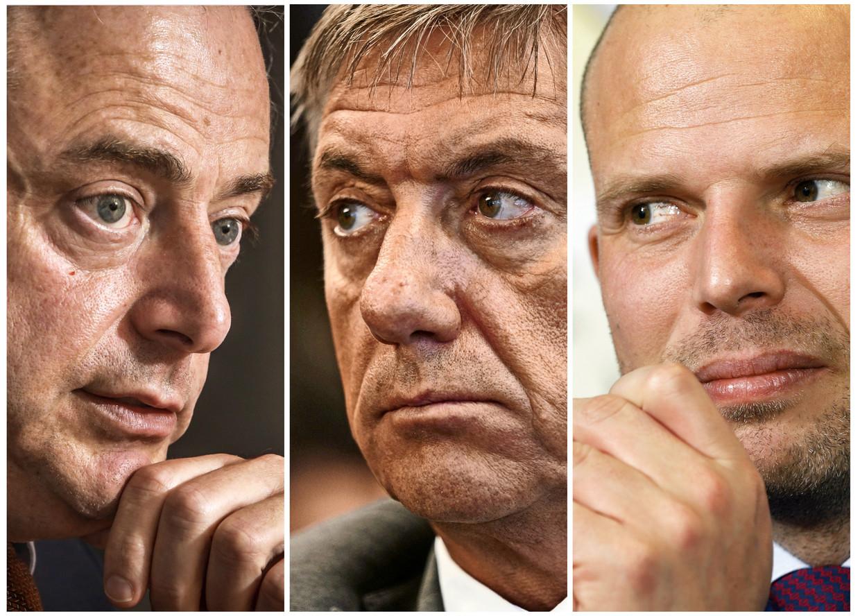 Bart De Wever, Jan Jambon en Theo Francken.Elk hebben ze hun eigen recept om Vlaams Belang af te stoppen. Beeld Pieter-Jan Vanstockstraeten