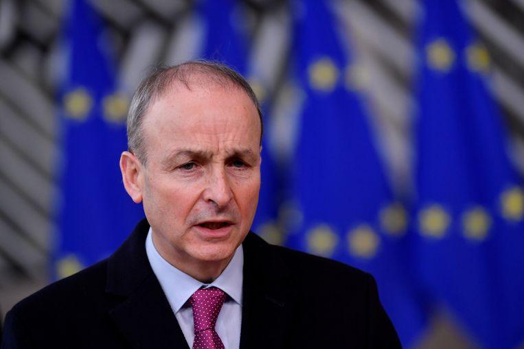 De Ierse premier Micheal Martin heeft vrijdagavond meerdere malen contact gehad met commissievoorzitter Ursula von der Leyen om zijn ongenoegen te uiten over deze 'ongepaste maatregel'. Beeld REUTERS