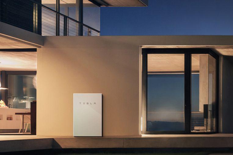 Illustratiebeeld: thuisbatterij Tesla Powerwall 2 Beeld Tesla
