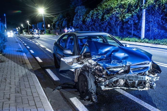 De chauffeur van deze wagen werd gegrepen toen hij uit de auto stapte