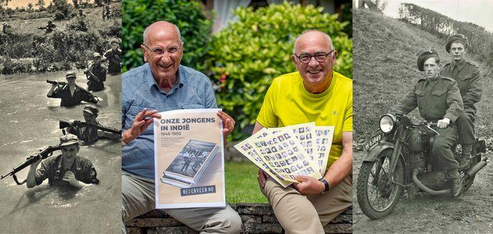 Voor hun boek 'Onze jongens in Indië' portretteerden Jan van Elzakker (l) en Louis Minnebach 140 jonge soldaten uit de Zuidwesthoek die vanaf 1945 naar het oosten werden uitgezonden.
