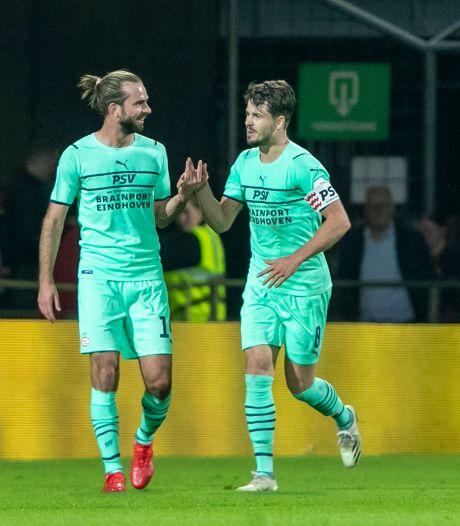 PSV peurt met de billen tegen elkaar toch nog het maximale uit een slechte wedstrijd