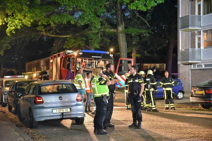 Twee appartementen branden af aan de Sint Hubertusstraat in TIlburg