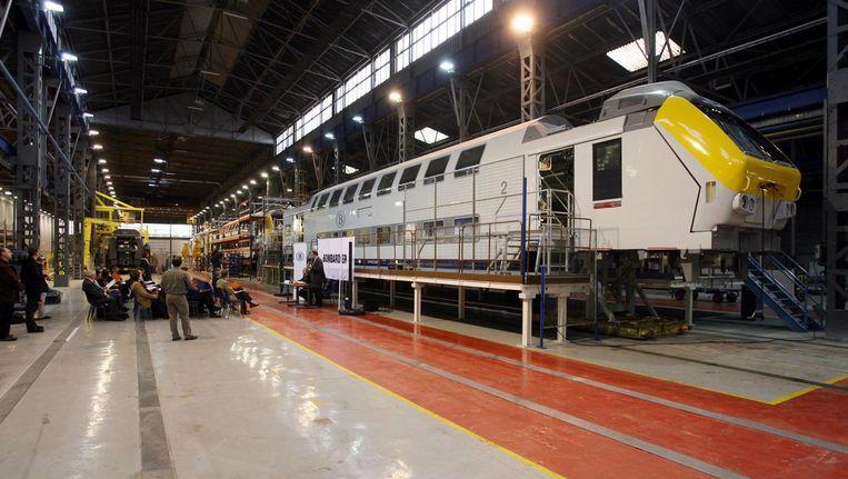 Bij Bombardier in Brugge bouwen ze onder meer treinstellen. Beeld Benny Proot