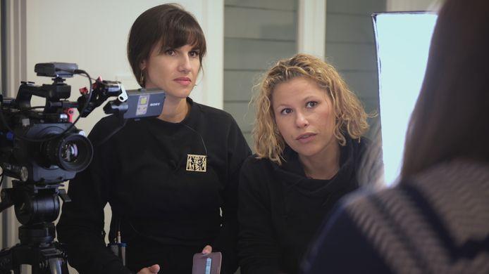"""Myriam Leroy et Florence Hainaut, réalisatrices de """"Sale Pute""""."""