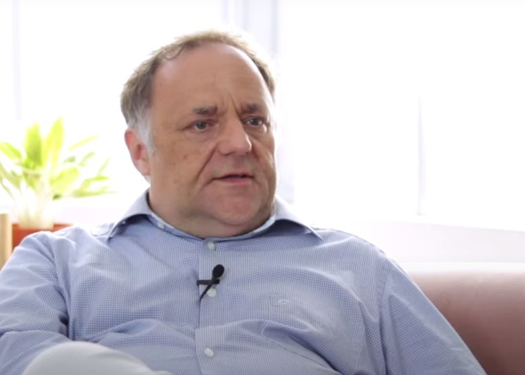 Marc Van Ranst in gesprek met Techmag. Beeld Magali De Reu