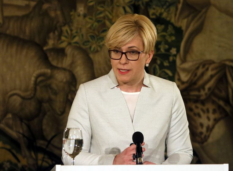 Ingrida Simonyte, premier van Litouwen.  Beeld Hollandse Hoogte / AFP