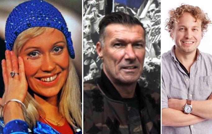Zangeres Agnetha van ABBA, trainer Henk Vos van RBC en columnist Niels Herijgens van BN DeStem.