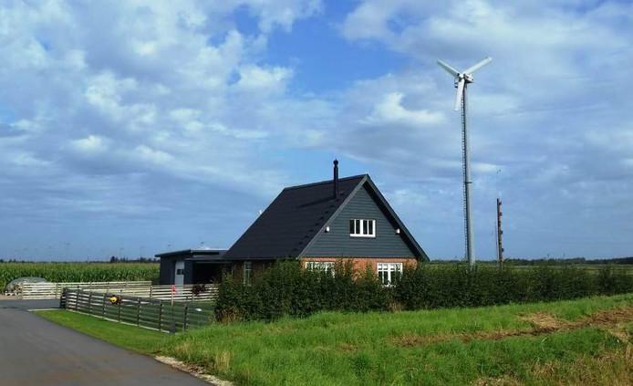 In sommige regio's is de kleine windturbine al gebruikelijk.