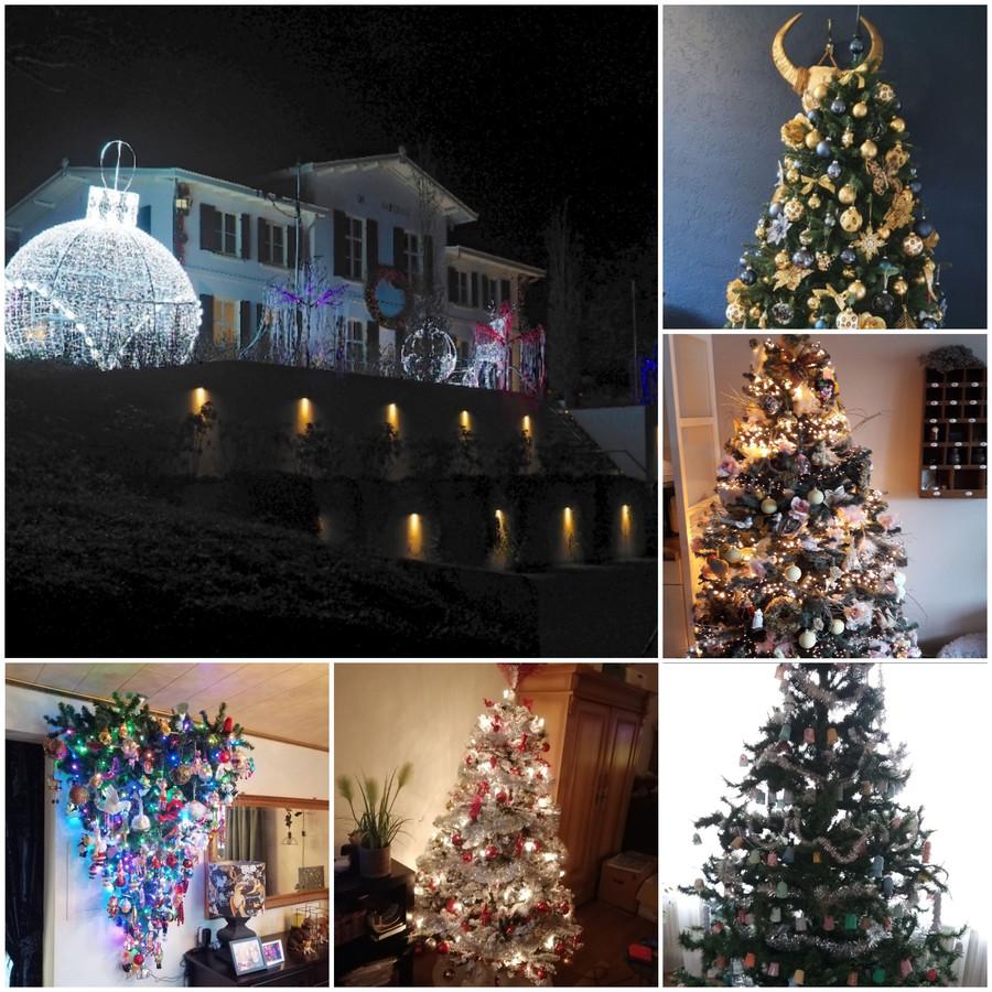 Op veel plaatsen branden de kerstlampjes al, binnen en buiten.