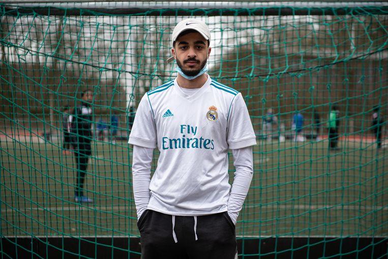 Karam Al Nasseri (20), ex-Crossing Vissenaken: 'Waarom ik vorig jaar gestopt ben met voetballen? Ik was al die beledigingen helemaal zat.' Beeld Wouter Maeckelberghe