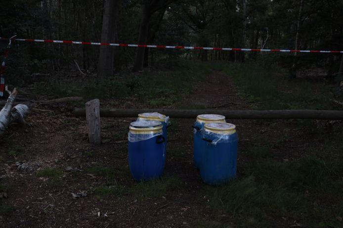 De drugsdumping op Hemelrijkstraat in Odiliapeel, drie kilometer verder dan de eerdere dumping van die avond in Volkel.