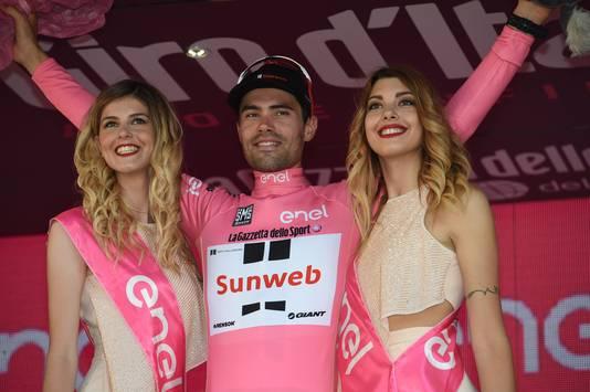 Tom Dumoulin na zijn winst van de Giro d'Italia.