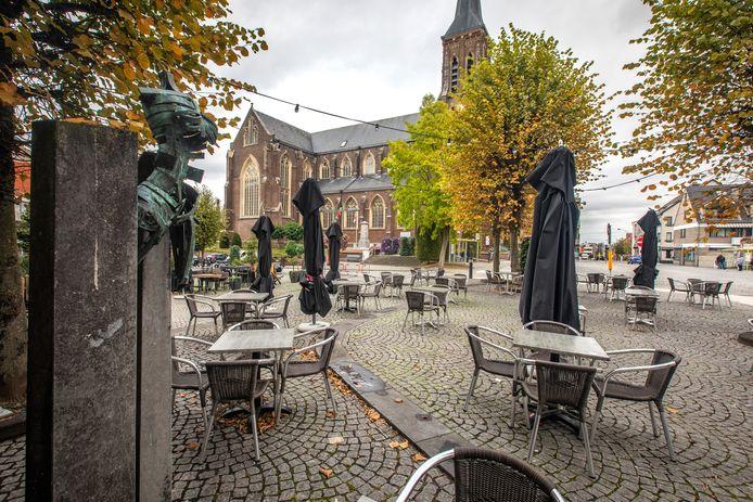Een beeld van het centrum van Lanaken.
