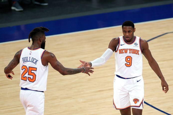 RJ Barrett en Reggie Bullock (New York Knicks).