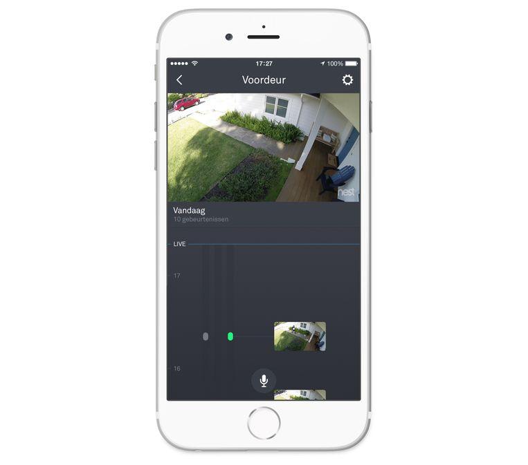 Zo ziet een 'feed' van de Nest Cam eruit.