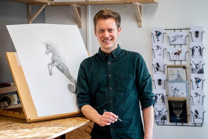 Eenhoorn + zeepaardje = Zeeuwse Zeehoorn van kunstenaar Ferdy Remijn |  Zeeuws-Vlaanderen | pzc.nl
