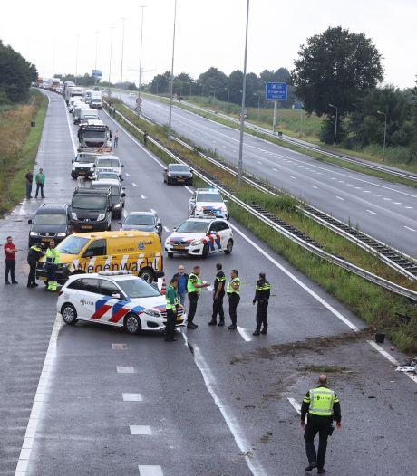 Automobilist zwaargewond bij eenzijdig ongeluk op A59 Waalwijk richting Den Bosch
