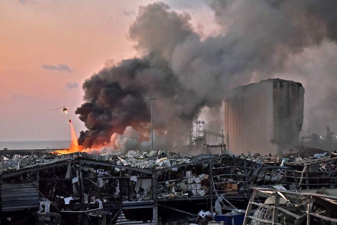 De explosie in Beiroet, veroorzaakt door dezelfde soort van springstof die Hezbollah door België gesmokkeld zou hebben