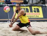 Seppe De Keyser vormt in Hechtel-Eksel een gelegenheidsduo met Dries Koekelkoren tijdens de laatste beachmanche van het seizoen