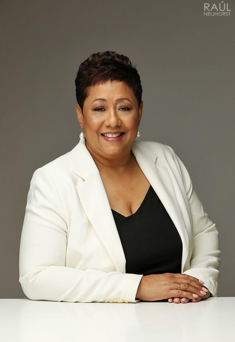 Carmen Breeveld, CEO van recruitment- en trainingsbureau Triple Talent en in 2003 verkozen tot Internationale Zwarte Zakenvrouw van Nederland. Beeld Raúl Neijhorst