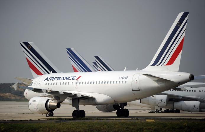 Toestellen van Air France.