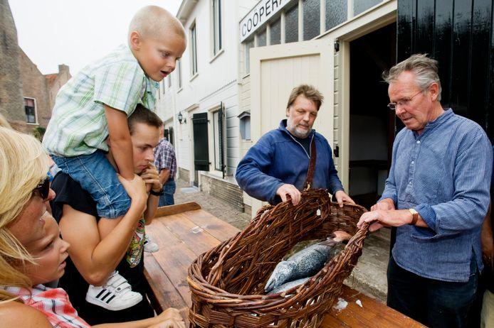 Een eerdere editie van een Visserijdag in Woudrichem.