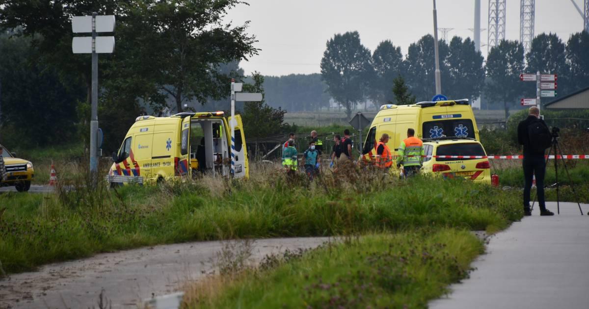 Motorrijder overleden bij ongeluk op Langeweg Arnemuiden.