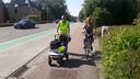 Vrijwilligers van LeVeLo en Fietsersbond Londerzeel op stap met Claire.
