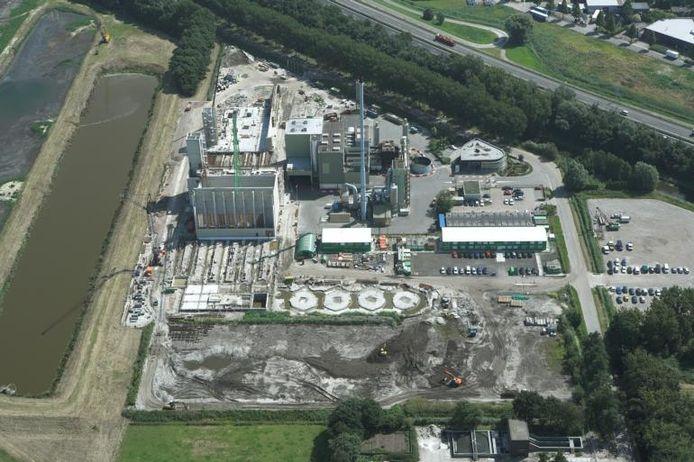 Luchtfoto van het Sita-complex, aan de Potendreef in Roosendaal. Naast het Sita-complex is de Biomineralenfabriek in Roosendaal gepland.