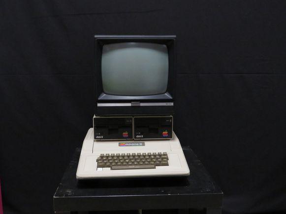 De Apple II is één van de blikvangers in de expo van Multiplay