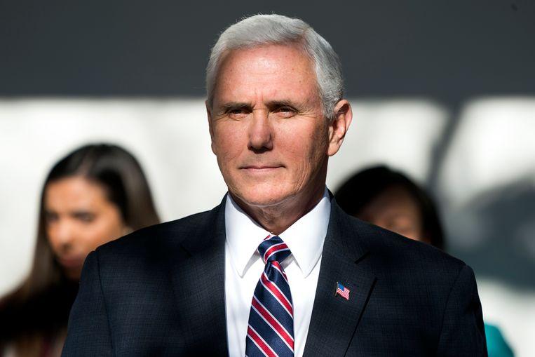 Vicepresident Mike Pence nam als eerste het woord.