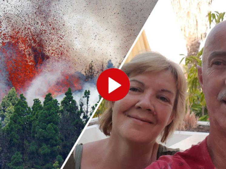 Astrid en Ronald zitten in La Palma: 'We voelen ons veilig maar bijzonder om mee te maken'
